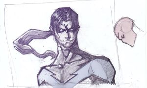 Nightwing sketch by 22two