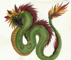 Quetzalcoatl, the Feathered Serpent by abandonskull