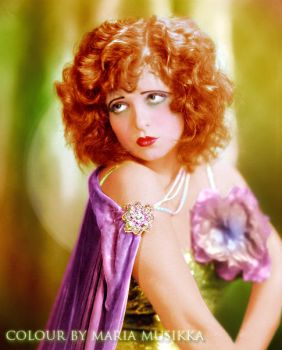 Clara Bow ~~1920s~~ colourised by Maria-Musikka