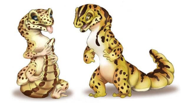 A Couple of Geckos by StewCat52