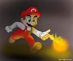 Mario's Flower Power by joaoppereiraus