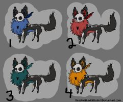 Skull dog draw to adopt {OPEN} by Beastwithaddittude