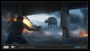 ILM Art Dept Challenge 'Escape From Yavin' by AnthonyDevine