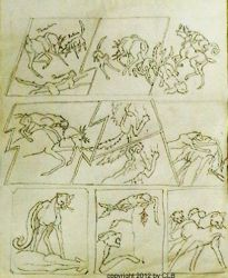 Ratha graphic novel page rough by rathacat