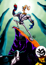 EarthWorm Jim by mawirri