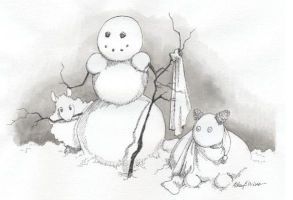 Snow Shepherdess by eccentricone