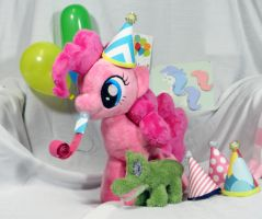 Pinkie Pie Plush with Party Accessories by Cryptic-Enigma