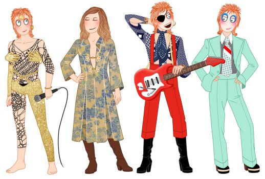 The many faces of David Bowie - 1947-2016 by lilis-gallery