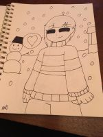 Frisk in Snowdin by ShadAmyfangirl129