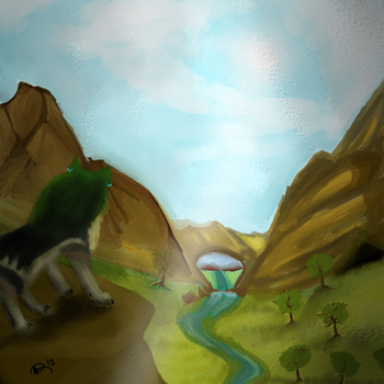 Watchful guardian of the valley by Midna-Mcellion