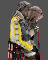 Lightning x Hope: Kiss by NovaCrystallisXIII