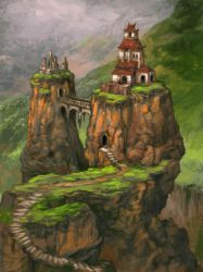 mountain residence by AndrewRyanArt