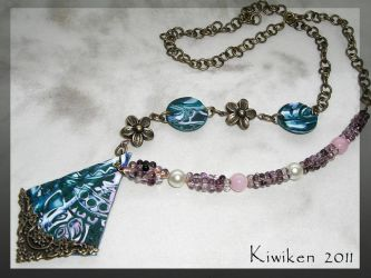 Carnation, Lily, Rose Necklace by Kiwiken