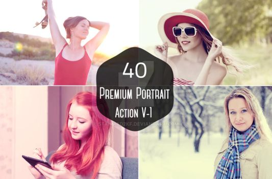 Free : 40 Portrait Photoshop and Elements Actions by sfahmad2kf