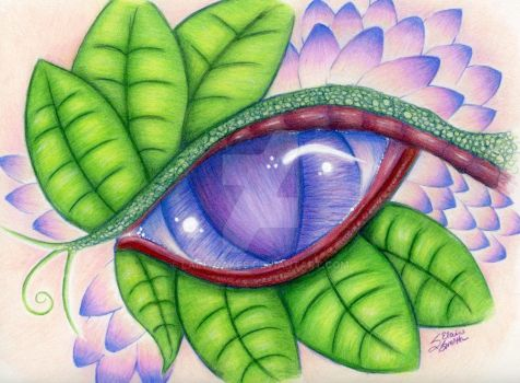 The Jeweled Eye Dragon by LainyCakes
