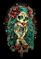 Day of the Dead T-shirt 'Rose' by MarcusJones