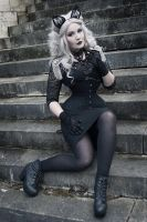 The Black Lace Cat 002 by MADmoiselleMeli