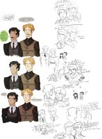 fathers and sons - sketches by spoonybards