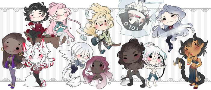 CHIBIS by TheRainbowBear