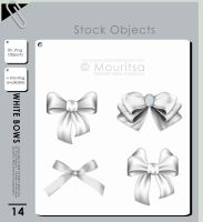 Object Pack - White Bows by iMouritsa