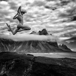a small jump over Iceland by cenevols
