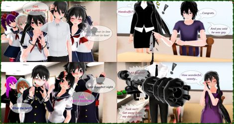 MMD-Yandere Simulator-Don't click!! by Stefy5000