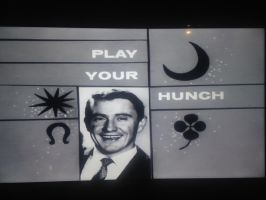 Play Your Hunch circa 1960 tellop card by dth1971
