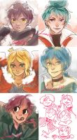 DA Fantasia: sketch requests by muse33