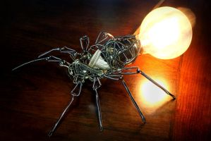 Steampunk Spider Lamp by CatherinetteRings