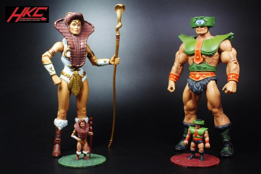Custom MOTUSCLE Teela and Tri-Klops by hunterknightcustoms