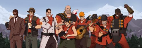 Happy 10 anniversary, Team Fortress! by KRedous
