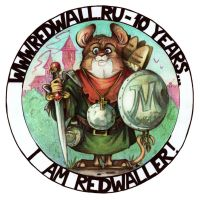 Logo to decade of the site Redwall.ru by FortunataFox