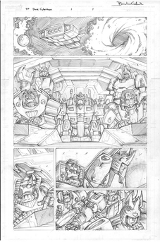 Transformers: Dark Cybertron 01 pencils page 1 by curiopraxis