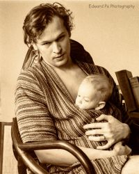 Edward with son 1972 by FrodoPrime
