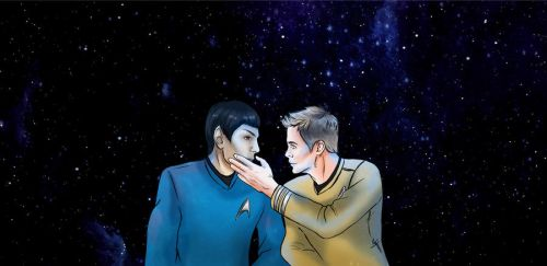 James T. Kirk and Spock by StephanyHardy