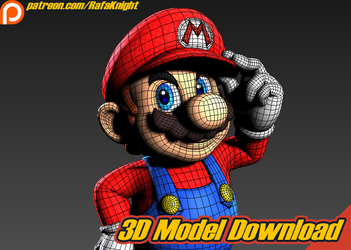 Super Mario - 3D Model Download by Elesis-Knight
