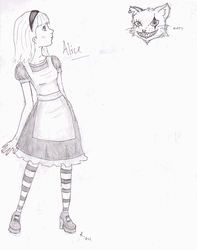 Alice and the Cheshire Puss by nihilisticangel