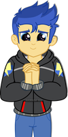 Flash Sentry looking someting cute by jucamovi1992