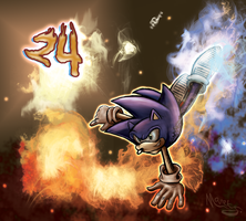 Sonic Flare [24th Anniversary] by MarekSterling