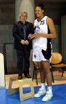 Elizabeth Cambage with tiny man by lowerrider