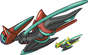 386 - Deoxys (Speed Forme) by Tails19950