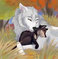 Autumn Snuggles by Wildfire-Tama