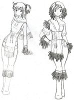 Girl with Moon Motif Outfits by StarRaven
