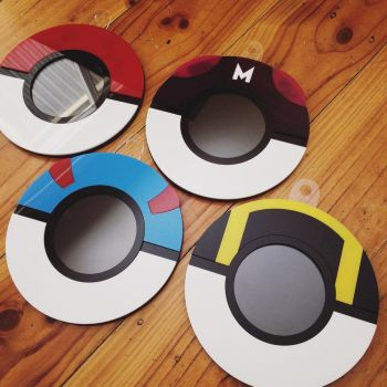 Finals and a WIP: Pokemon Ball Photo Frames by edenki