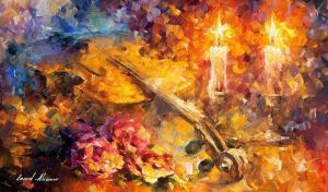 Violin Of Emotions by Leonid Afremov by Leonidafremov