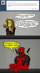 Chainsaw Vigilante and Deadpool comic #16 by arcanineryu