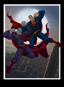 Superman VS Bizarro by Helmsberg
