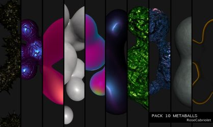 Pack 10 Metaballs by RoseCabriolet