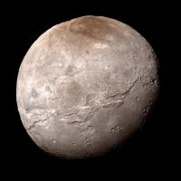 New Horizons Charon Mosaic (True-color edit) by harbingerdawn