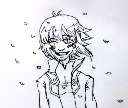 Inktober Day 25 - Judai Yuki by solcastle